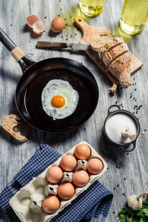 Preparations for breakfast made up of eggs Stock Photo - 18268773