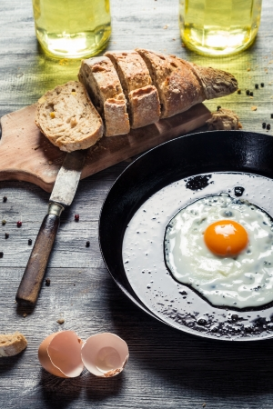 Egg for breakfast in the countryside Stock Photo - 18268729
