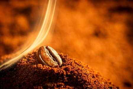 attar: Closeup of one coffee beans