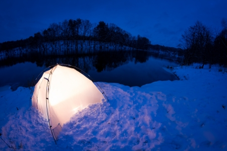 outdoor pursuit: Warm accommodation in the cold winter night