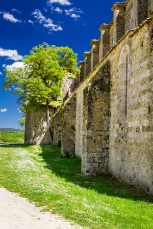 Ruins of the ancient Church in Tuscany photo