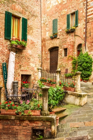Vintage buildings in Italy photo