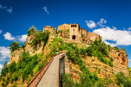 View of the town Bagnoregio, Tuscany photo
