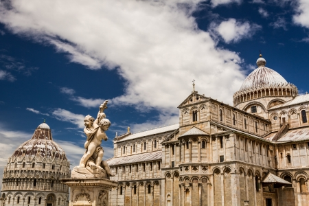 Beautiful ancient monuments in Pisa photo