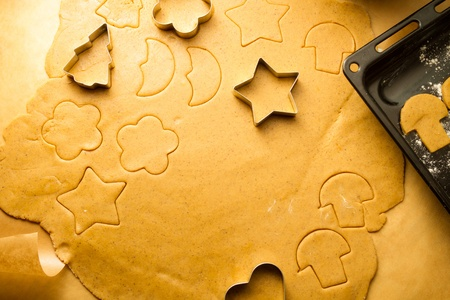 Closeup of gingerbread cookies for Christmas photo