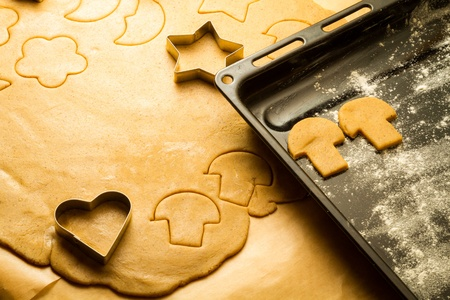 Homemade gingerbread cookies for Christmas photo