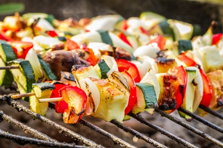 Hot skewers on the grate Stock Photo - 21349909