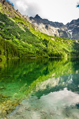 morskie: Mountain lake with blue water and rocky mountains