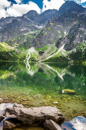 Sea eye Tatras in summer photo