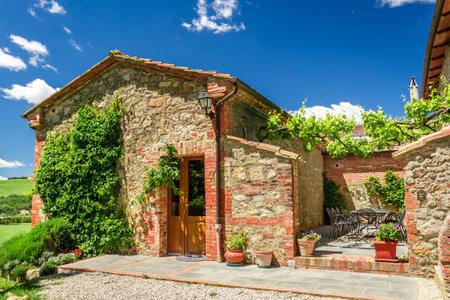 Sommerhaus Agriturismo in der Toskana, Italien Editorial