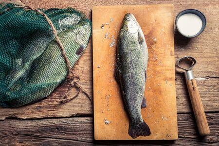Preparing freshly caught dinner Stock Photo - 21572066
