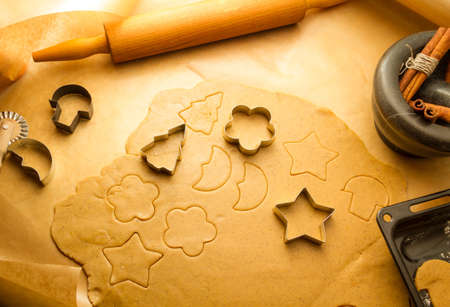 Preparing to do gingerbread cookies for Christmas photo
