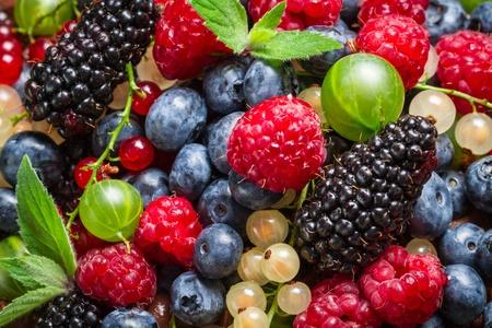 Closeup of fresh berry fruits photo