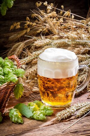 Small beer with a large foam Stock Photo - 22171791
