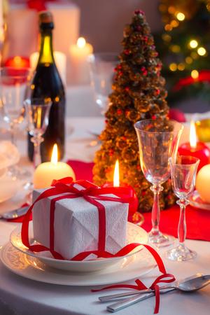 christmas eve: Enjoy your Christmas dinner Stock Photo