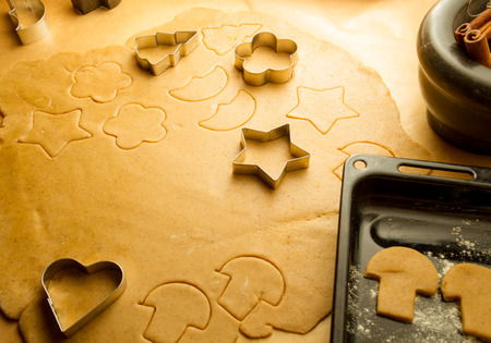 Preparing to make gingerbread cookies for Christmas photo