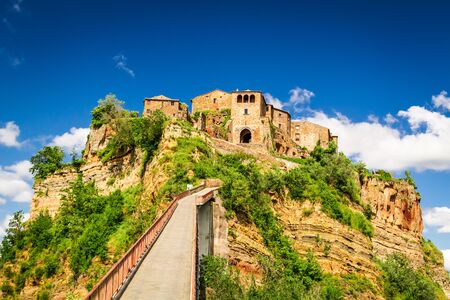 View of the town Bagnoregio, Tuscany Stock Photo