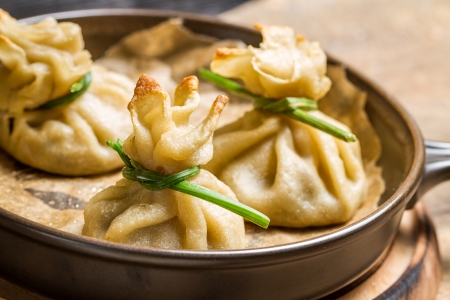 Unusual dumplings with mushrooms Stock Photo - 23177318