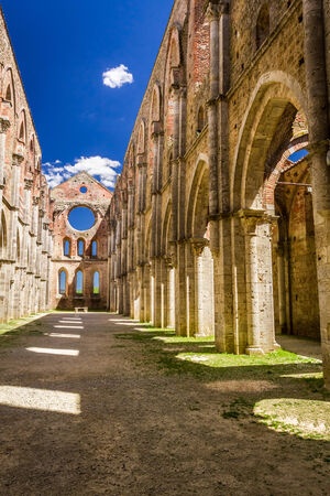Ruins of an old church in Tuscany photo