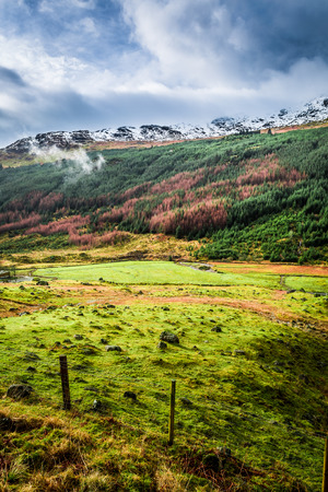 Valley in the mountains, Scotland photo