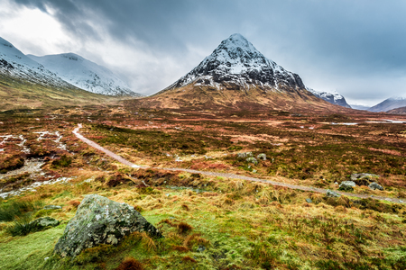 Glencoe in Winter, Highland Scotland photo