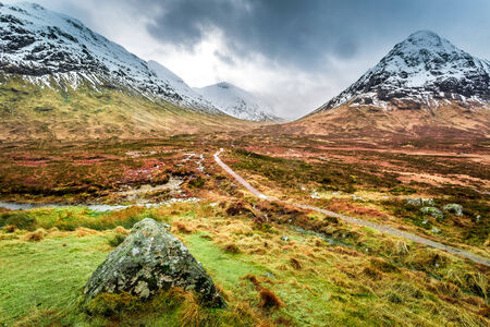 Footpath in Glencoe mountains photo