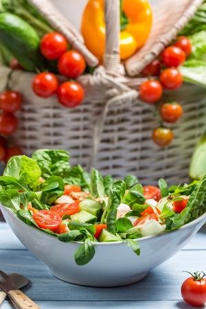 preservatives: Healthy spring vegetable salad