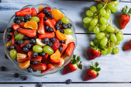 Tasty spring fruit salad photo