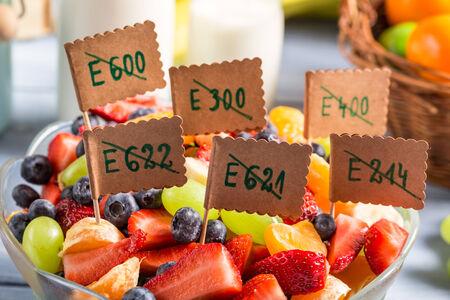 preservatives: Closeup of fresh fruit salad with no preservatives