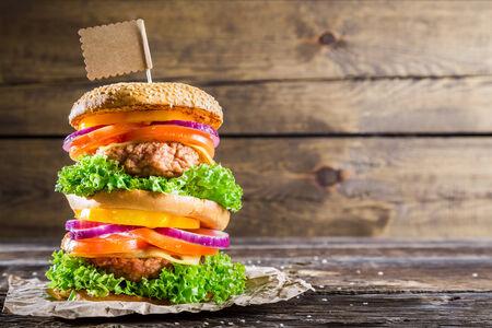 doubledecker: Enjoy your double-decker burger