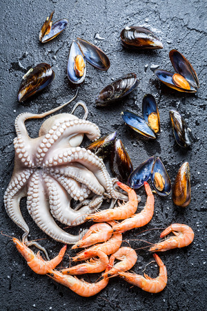 Three kinds fresh seafood photo