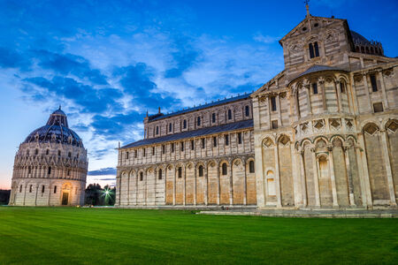 Cathedral in Pisa at night photo