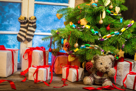 Enjoy your Christmas in rural cottage photo