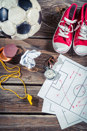 Plan to playing football in school photo