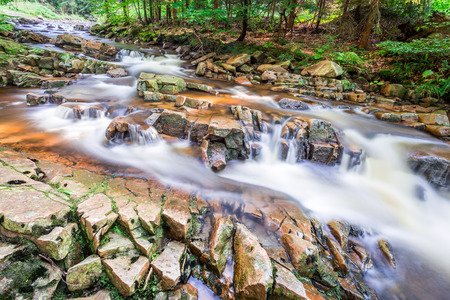 pine creek: Mountain stream full of clean water