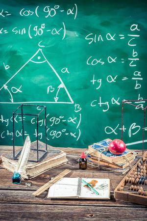 Trigonometry classes in school photo