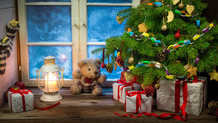 Christmas holiday in the countryside photo