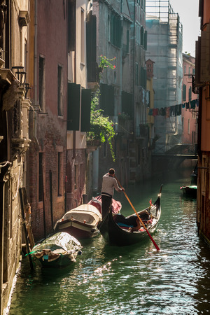gondolier: Gondolier in Venice Editorial