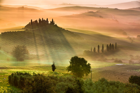 Sunrise in Tuscany photo