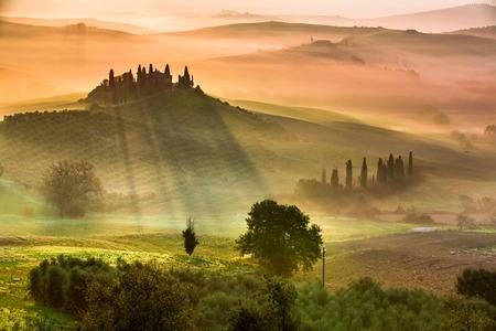 spring holiday: Sunrise in Tuscany