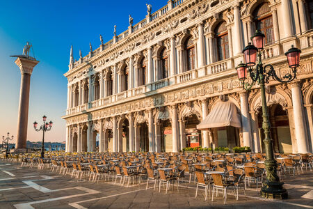 Restaurant before opening on St. Marks Square in Venice