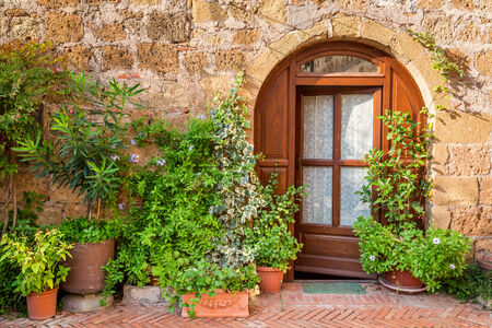 italy: Beautifully decorated porch in Tuscany