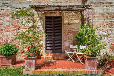 Tuscany Rural house in summer, Italy photo