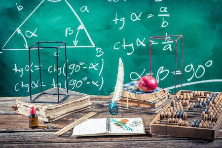 trigonometry: Trigonometry classes in school Stock Photo