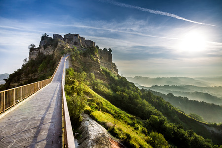 View of the old town of Bagnoregio photo
