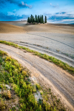 Autumn landscape in Tuscany, Italy photo