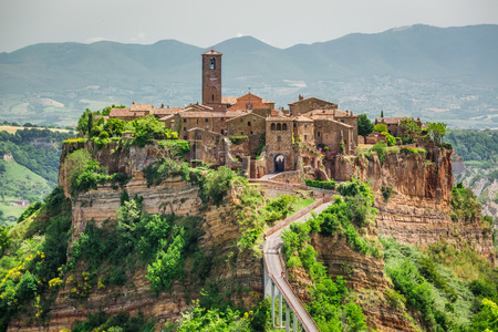 View of the old town of Bagnoregio Stock Photo