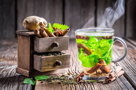Warming leaf tea photo