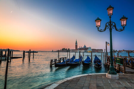 Sunrise over the Grand Canal in Venice photo
