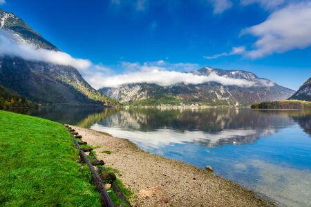 Mountain lake in Alps photo